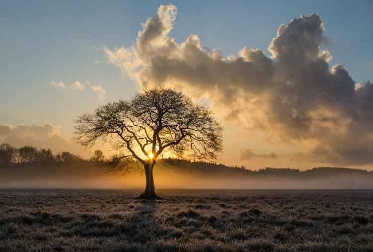 alone clouds daylight dramatic